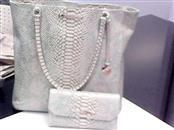 BRAHMIN Handbag HARRISON OPAL SEVILLE SNAKE EMBOSSED TOTE